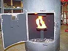 Interior del calefactor de Roger Sanders
