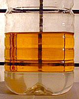 Tercer lavado, agua transparente con pH 7, biodiésel cristalino